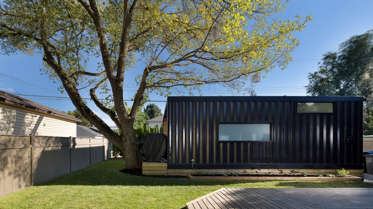 black container home
