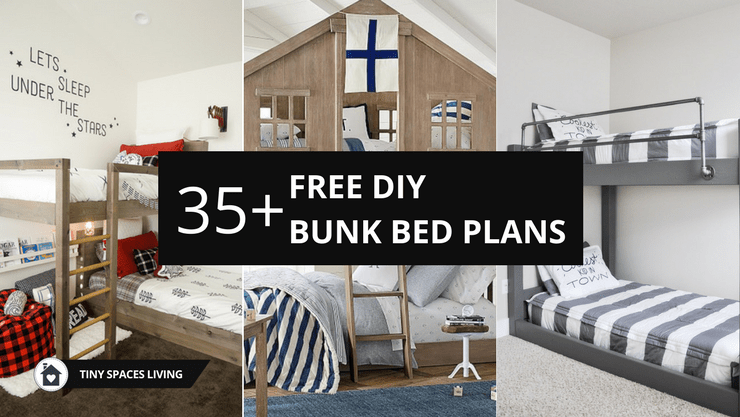 25 Diy Bunk Beds With Plans: Top 35+ Free & Simple 2x4 Bunk Bed Plans With Dimensions