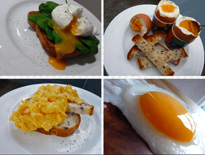 Image of omelette and other egg dishes