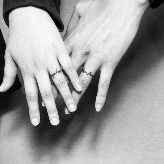 wedding band ring tattoos