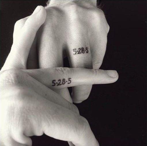 wedding date ring tattoos