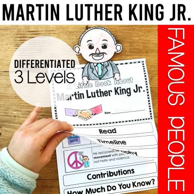 Martin Luther King biography flipbook