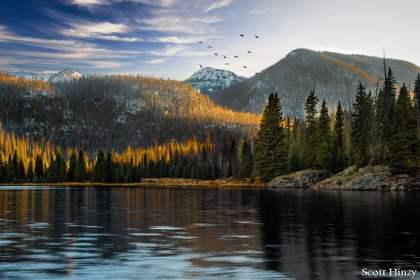 Sunset at Big Meadow Reservoir
