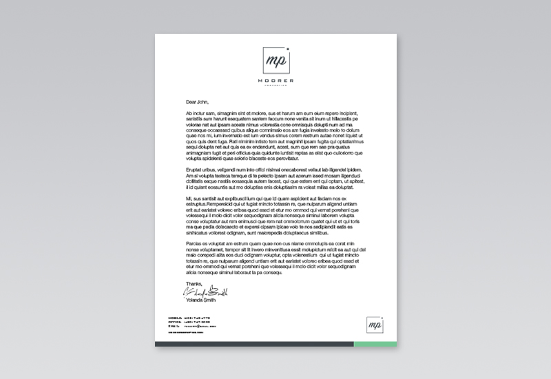 Moorer Properties Letterhead