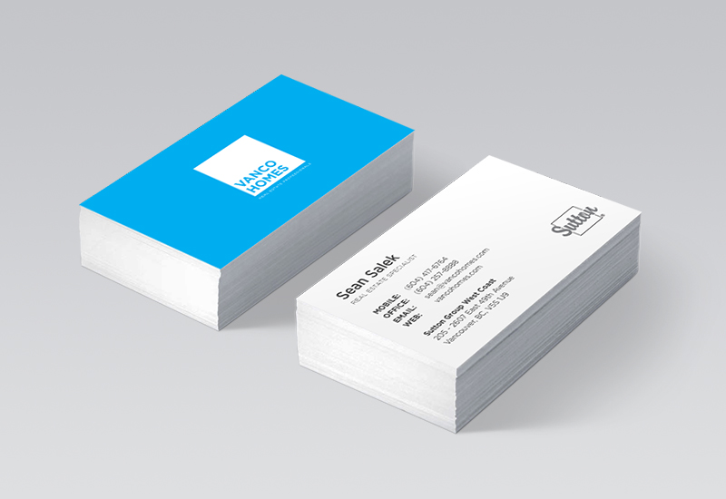 Vanco Homes Business Cards