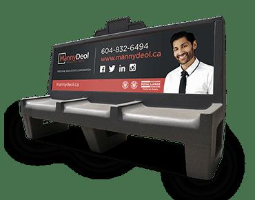 Bus Bench Advert