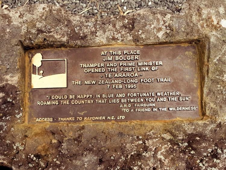 Te Araroa Trail Opening Marker