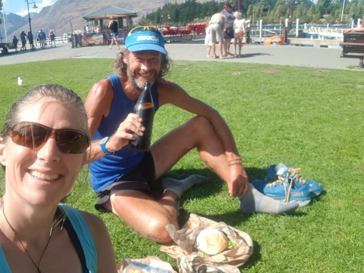 Te Araroa Trail Day 102 - Dinner by the lake with Curly