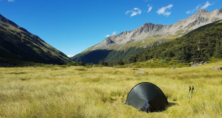 Te Araroa Trail Day 122 - Camping outside Upper Travers hut