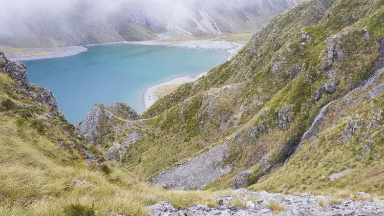 Te Araroa Trail Day 124 - Clouds clear for the descent to Lake Constance