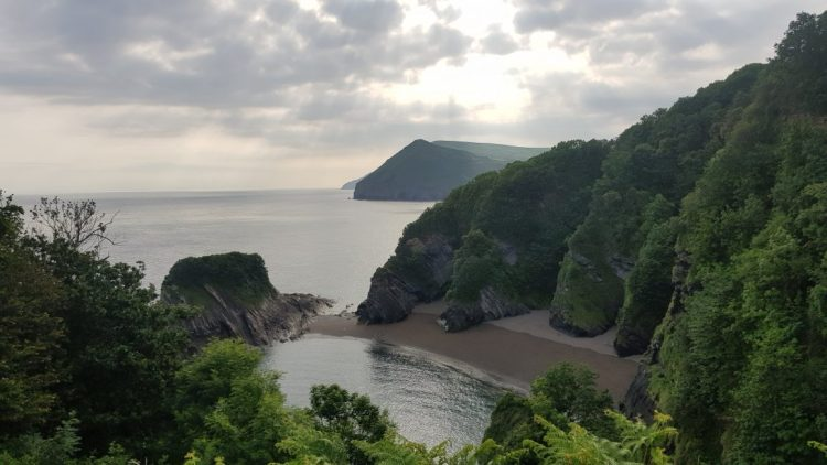 Back on the clifftops after leaving Combe Martin