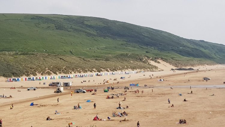 Tide's out at Woolacombe Bay