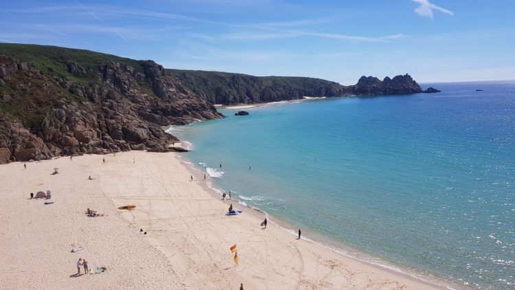 The beaches at Porthcurno