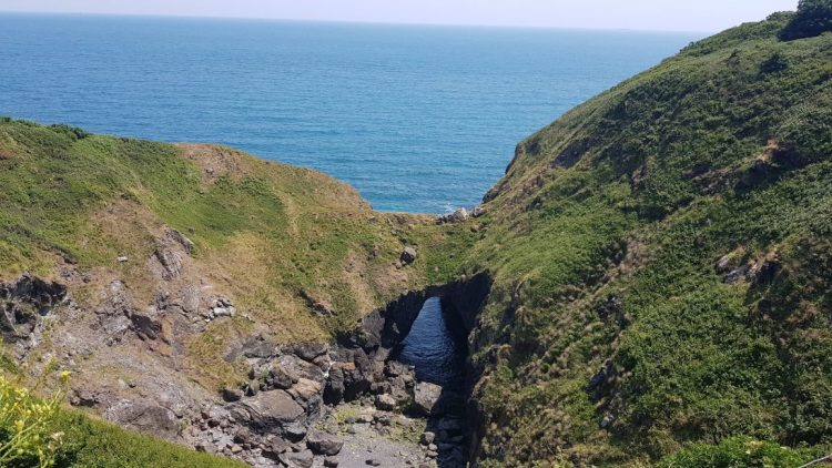 The Devil's Frying Pan near Cadgwith