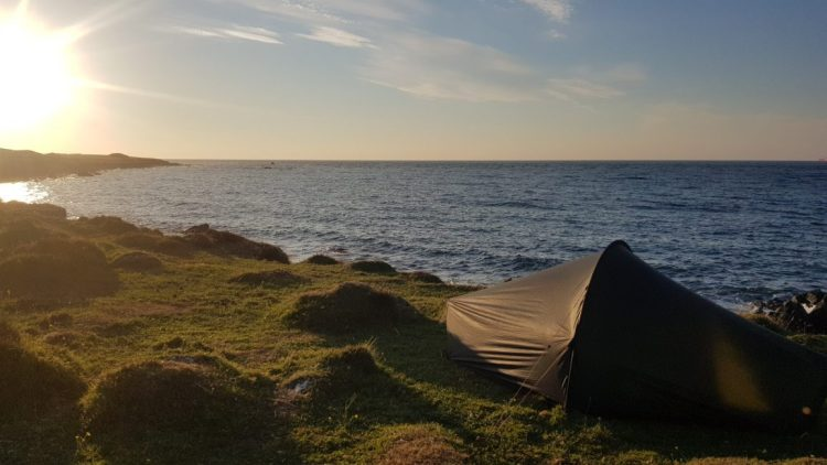 Wild camp outside Coverack