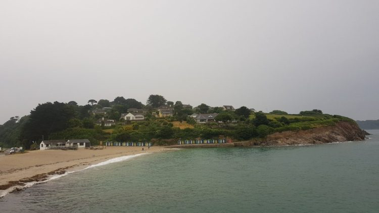Swanpool beach on the rain