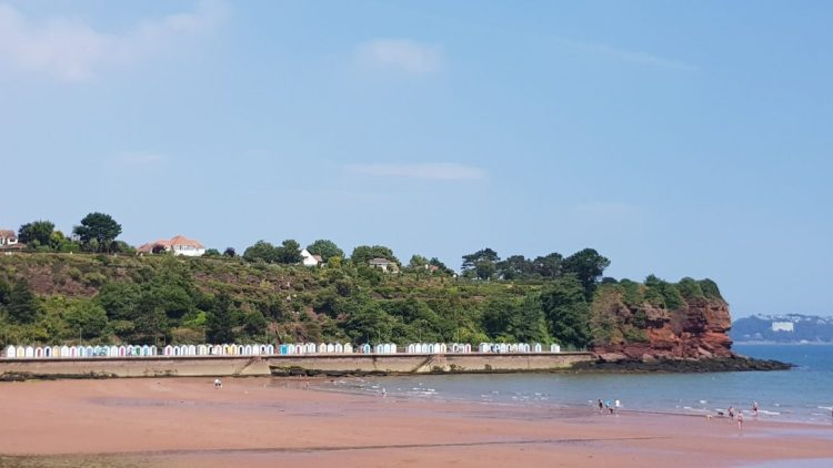 Beach huts on the English Riviera