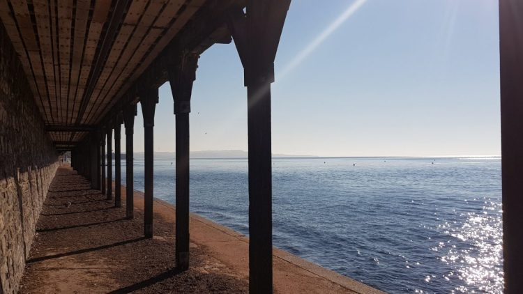 Under the boardwalk at Dawlish