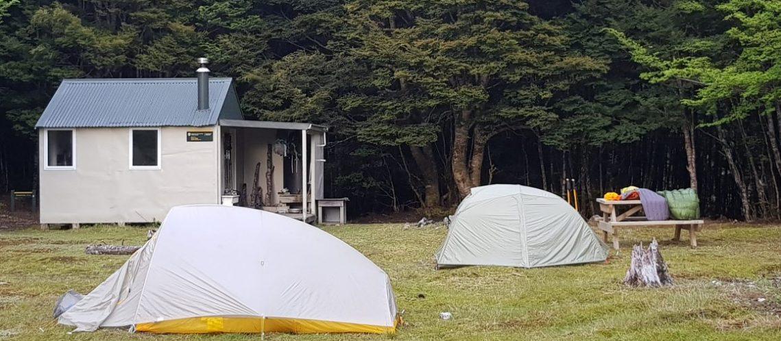 Camping at Tarn hut richmond
