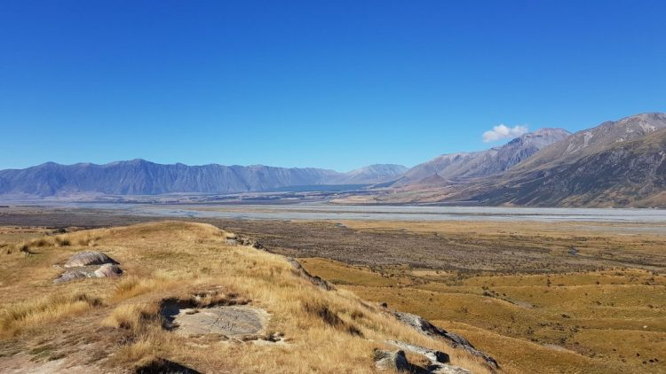 Rangitata river Mount Sunday edoras