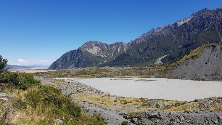 Looking back across Mueller Lake