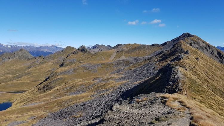 Walking the ridge of the St Arnaud Range