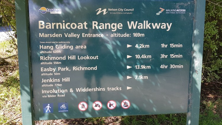 Signage for the Barnicoat Range - everything but the Scout Track