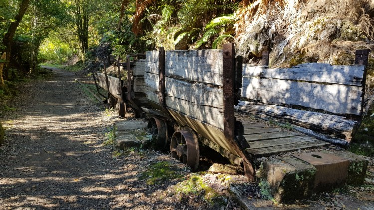 One of the railway relics along the Charming Creek Walkway