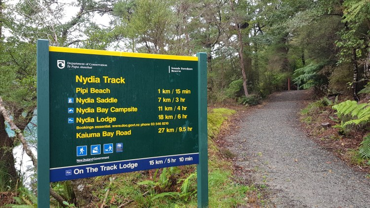 Starting the Nydia Track at Duncan Bay