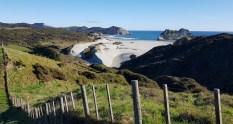 Wharariki Beach from the Puponga Hilltop Track