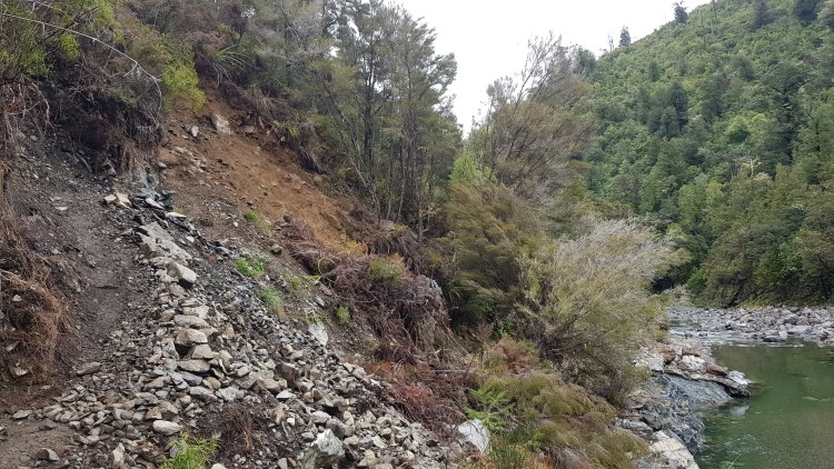 A washout on the Hacket Track