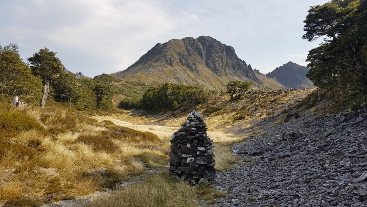 The big cairn before Waingaro Peak
