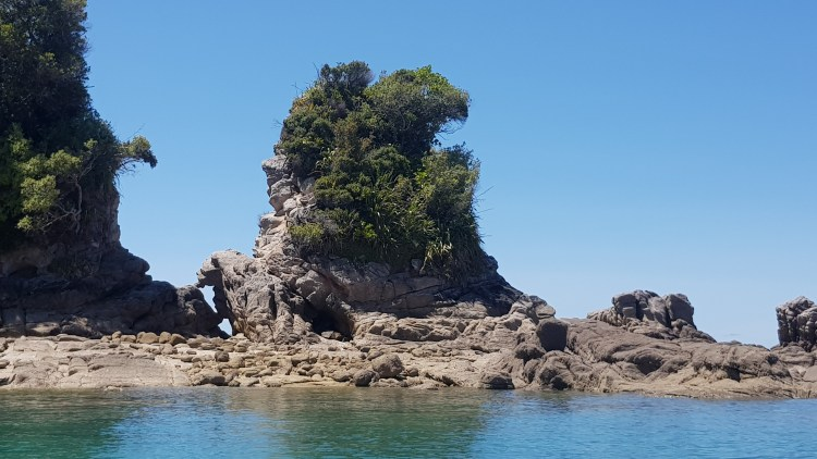 Rock formations just off Tōtaranui Bay