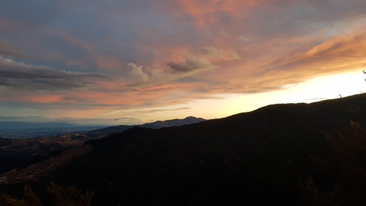Sunset from Castle Rocks - Abel Tasman Inland Track