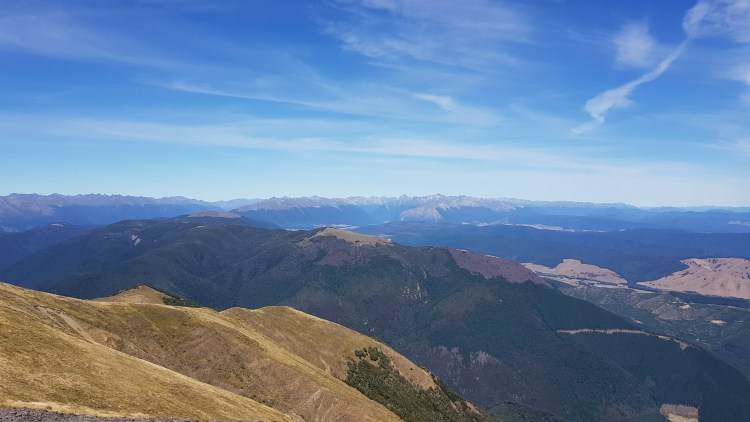 Towards the Nelson Lakes, Robert Ridge and St Arnaud Range