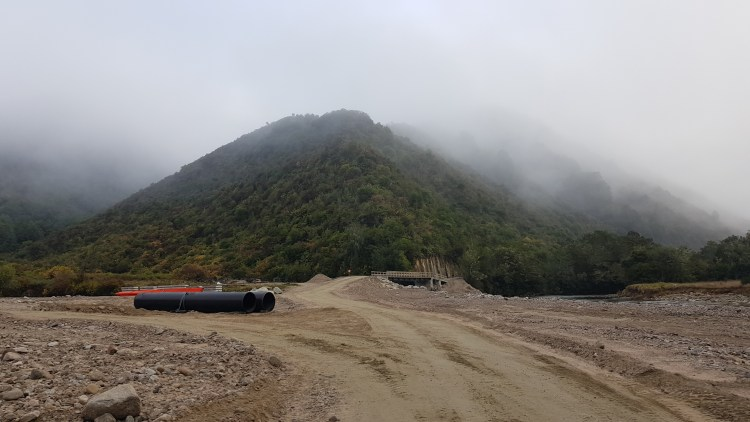 The hydro scheme near the Matiri River West Branch