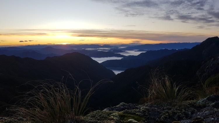 Sunrise from Buckland Peaks