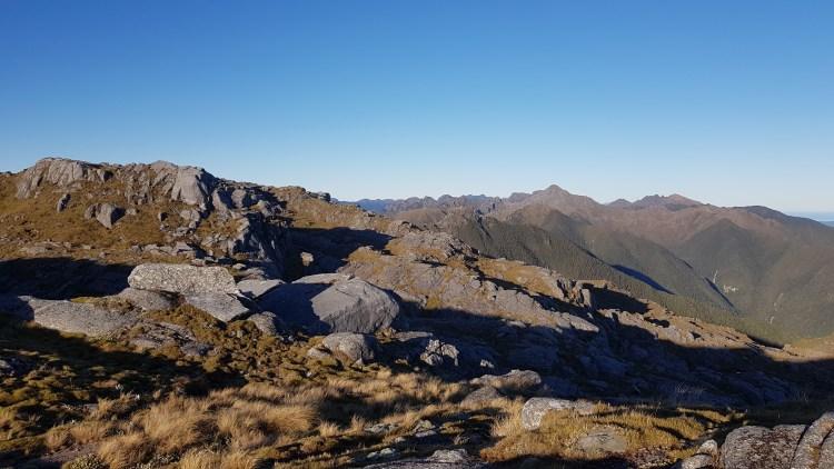 Buckland Peaks towards Mt Kelvin