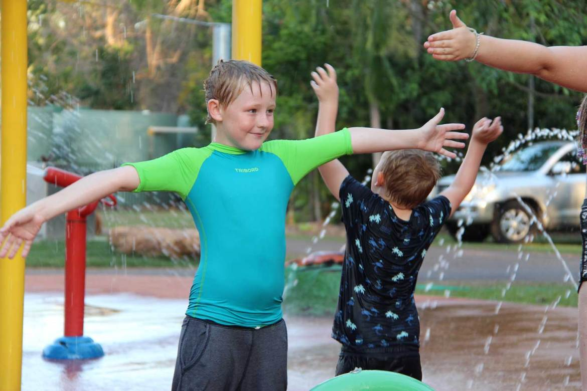 Holiday park in Darwin, travel with kids