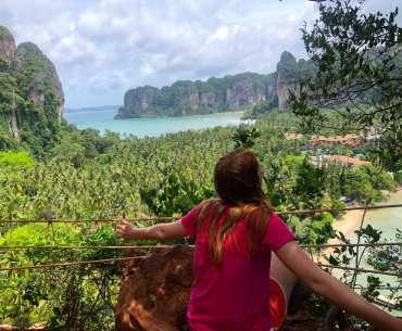 Hiking to Railay viewpoint with kids