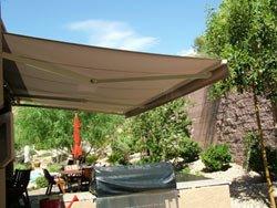 alekoa 10x8 feet retractable patio awning sand color 3m x 2 5m qesadvrfh