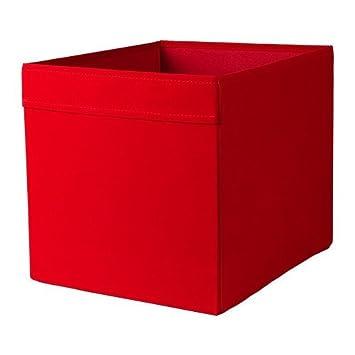 ikea regalfach drona aufbewahrungsbox regaleinsatz in 33x38x33 cm bxtxh rot passend fur expedit besta etc eitjeltoiu