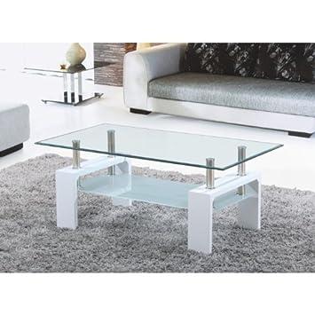 julia table basse blanche a plateau en verre jdfhbkjdnkh