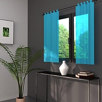 paire de voilage largeur 70 cm lido turquoise discount sdfgfddvc2