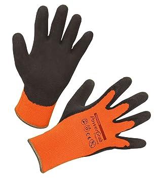 kerbl 297382 powergrab paire de gants isolants en latex avec inta c rieur en acrylique orange taille 8 ikjhgfgfff