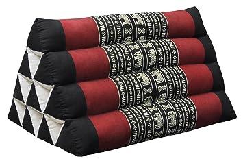 coussin thai triangulaire da c tente plage kapok fabriqua c en thaa lande noir rouge 81600 3 vgbhjkjhgfdfghhbvc