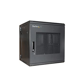 o startech com 12u 19 inch hinged wall mount server rack cabinet with steel mesh door rk1219walhm black awdivngdgg