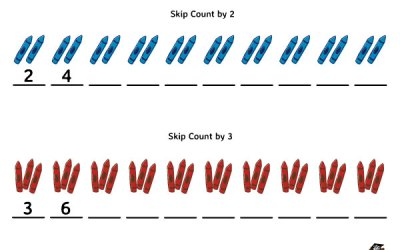 Free Printable Skip Counting Worksheet by 2 and 3