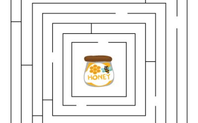Free Printable Maze Worksheet Bee And Honey