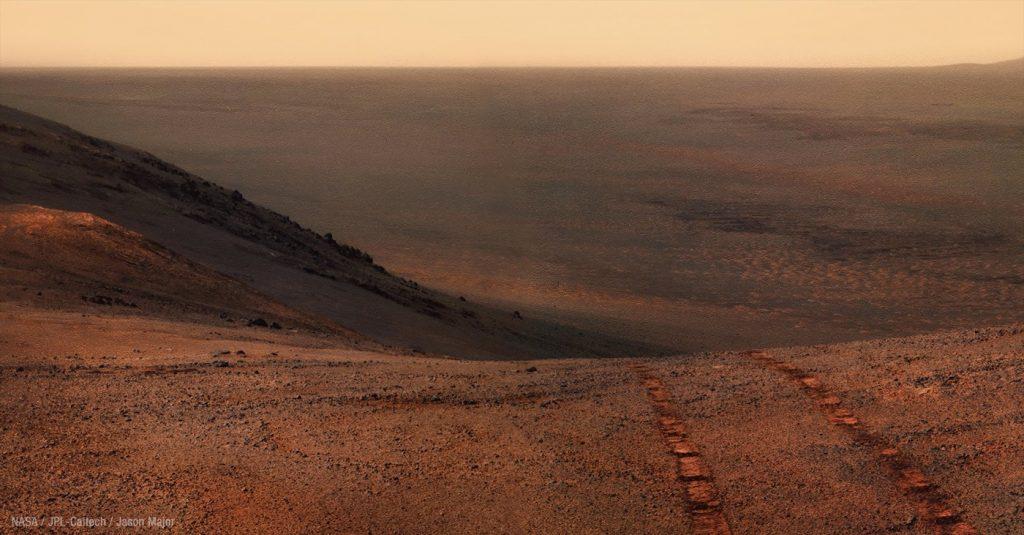Photo of Mars Landscape taken by Opportunity. Photo credit: NASA/JPL-Caltech